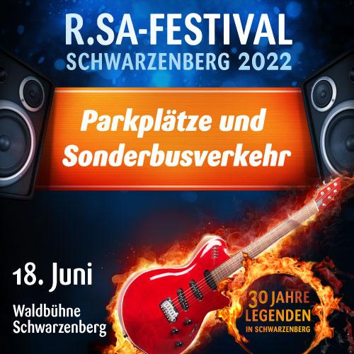 Hinweis für Ihre Anreise zum R.SA-Festival