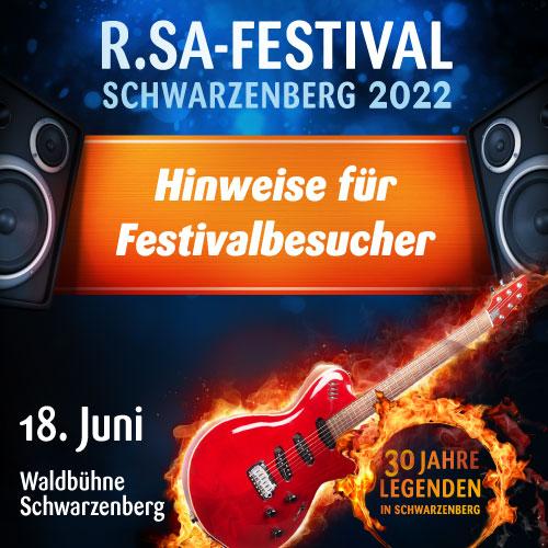 Hinweise für Festivalbesucher