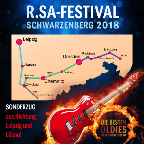 Mit dem Sonderzug zum R.SA-Festival!