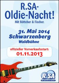 R.SA-Oldie-Nacht am 31. Mai 2014
