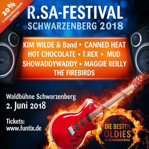 R.SA-Festival 2018 - Vorverkauf gestartet