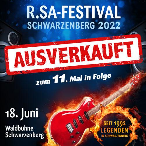 R.SA-Festival das 11. Mal in Folge ausverkauft!