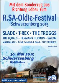 Mit dem historischen Sonderzug zum R.SA-Oldie-Festival - Schwarzenberg 2015
