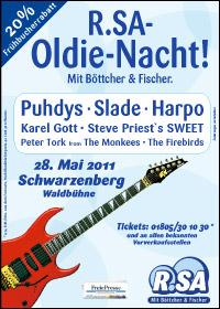 R.SA-Oldie-Nacht 2011 holt die Stars nach Sachsen!