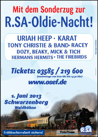 Mit dem Sonderzug zur Oldie-Nacht 2013!