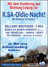 Mit dem Sonderzug aus Richtung Leipzig zur R.SA-Oldie-Nacht 2014!